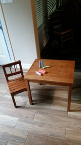 Child's Table and chair in Conroe, Texas