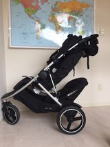 Phil & Teds Dash double stroller + replacement second seat cover + Sun cover in Okinawa, Japan