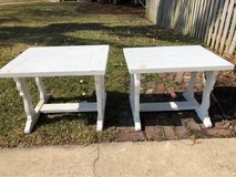 white painted wood end tables in St. Charles, Illinois