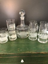 decanter and 4 glass beer steins and 5 old-fashion glasses in Wilmington, North Carolina