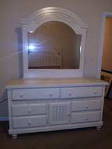 White 6 drawers dresser with cabinet in Beaufort, South Carolina