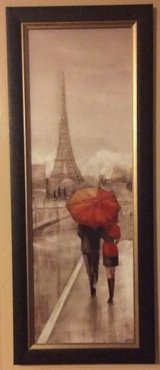 Set of Paris Eiffel Tower Romantic Stroll 16 x 40 in Houston, Texas