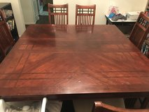 Large Square Wooden Table, Seats 8 with 8 Chairs in Fort Belvoir, Virginia