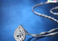 Luxury Angel tears big AAAAA zircon necklace Valentine's Day gift (New) in Moody AFB, Georgia