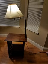Side table with lamp in Fort Leonard Wood, Missouri