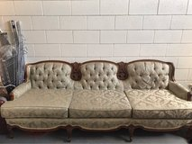 Beautiful vintage sage couch in 29 Palms, California