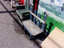 Small Wooden Birdhouse Bench in Fort Riley, Kansas