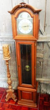 Grandfather Clock with Oak Housing in Ramstein, Germany