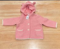 NEW WITH TAG - Baby Gap Baby Girl Sweater Coat with Hood. Size 6-12 Months in Chicago, Illinois