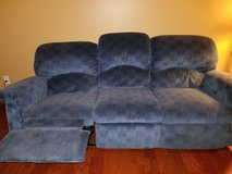 Couch with recliners on both ends in Yorkville, Illinois