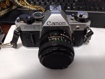 cannon AE-1 program 35MM camera with 4 lenses in Alamogordo, New Mexico