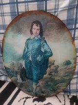 """GLASS LITHO OF """"BLUE BOY"""" IN ORIGINAL FRAME in Cherry Point, North Carolina"""