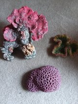 3 piece Artificial resin cast coral set in Oswego, Illinois