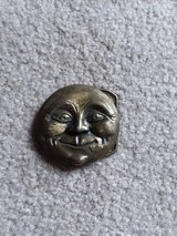 Smiling moon belt buckle in Sandwich, Illinois