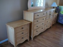 Dresser with mirror and nightstand set in Yucca Valley, California