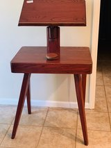 Antique Veneer Podium Lectern Church Hostess Stand Vintage in Fort Benning, Georgia