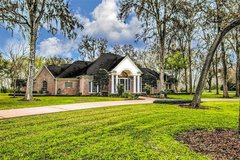 REDUCED! Stunning 1-story, 4100', ONE STORY, 4/3/3, 5 baths, 2 acre Corner Lot, huge trees, 16x3... in Houston, Texas