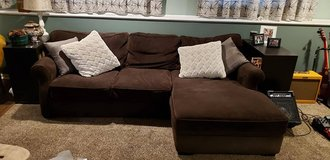 Sofa with Chaise in Bolingbrook, Illinois
