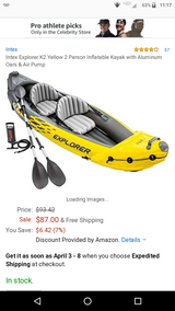 Intex inflatable kayak in Fort Campbell, Kentucky