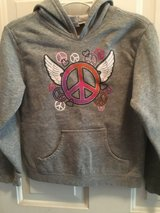 Gray peace sign sweatshirt in Naperville, Illinois