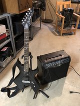 B.C. Rich bronze series with amp in Yorkville, Illinois