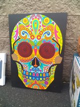 'Giant' skull canvas in Fort Campbell, Kentucky