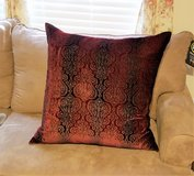 "Euro Sham Red Paisley Maroon 26"" x 26"" Cover Velvet Decor Pillow Bed Couch in Kingwood, Texas"