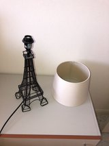 Paris Eiffel Tower shaped lamp with lamp shade in Okinawa, Japan