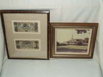 Augusta National Golf Club House & Bank of Augusta $5 & $10 Framed in St. Charles, Illinois