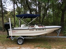 Boston Whaler 130 Sport 2005, with Mercury 40hp outboard motor on 2016 trailer. Mint Condition. in Beaufort, South Carolina