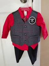 BRAND NEW!! Boys 4-Piece Suit, Size 0-3M in Clarksville, Tennessee
