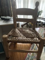 petite handwoven chair in Beaufort, South Carolina