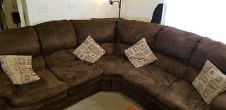 Brown 2 pc Micro Fiber Couch in Fort Lewis, Washington