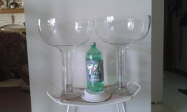 Pair (2) of HUGE hand-blown vintage Champagne glasses-perfect condition! in Glendale Heights, Illinois