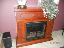 Beautiful & Large Electric Fireplace Mantle Heater with Several Different Functions & Remote Con... in Alamogordo, New Mexico