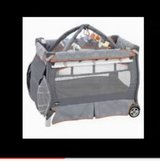 Chico baby high chair and playard in Bolingbrook, Illinois