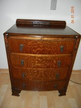 Gorgeous Tiger Oak - Quartersawn Dresser with Carved Backsplash! in Alamogordo, New Mexico