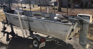 14 Ft Fishing Boat, Motor, Trailer & Accessories in Great Lakes, Illinois