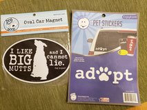 NEW dog car magnet and 6 stickers in Westmont, Illinois