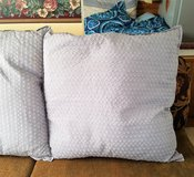 """Decorative Gray Euro Sham 26"""" x 26"""" Textured Pillow Cover Decor Throw Bed Couch in Kingwood, Texas"""