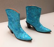 NEW Helen's Heart sz 7 Sequin Boots Blue  Embroidered Cowboy Western rodeo Turquoise in Kingwood, Texas