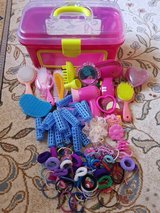 Girl play suitcase with accessories in Ramstein, Germany