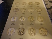 1948-1964 washington quarter set 48 coins few are bu in Fort Campbell, Kentucky
