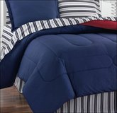 Fiarfield Square Navy Yard PILLOW SHAM Bedding Stripe Blue Red Reversible in Kingwood, Texas