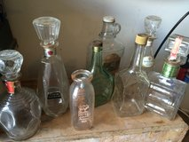 Various Antique Bottles in Chicago, Illinois
