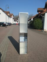 tall bathroom cabinet with 2 frosted glass doors in Ramstein, Germany