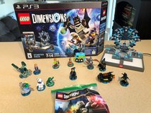 Playstation 3 Lego Dimensions Starter Kit Plus extra Figures in Bolingbrook, Illinois