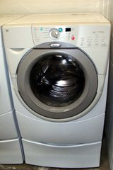 FRONT LOAD WHIRLPOOL DUET WASHER WITH STAND in Vista, California