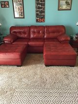 Couch and 2 LARGE ottoman (ASHLEY) in Joliet, Illinois