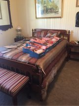 Solid Cherry Full Size Bed art in Camp Lejeune, North Carolina